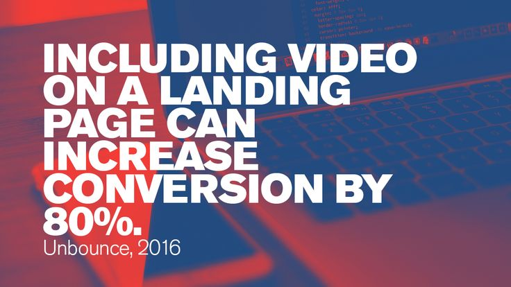 Including video on a landing page can increase conversion by 80%. #Blogs #ContentMarketing #Blogging #YouTube #videos #Digitalmarketing #videomarketing