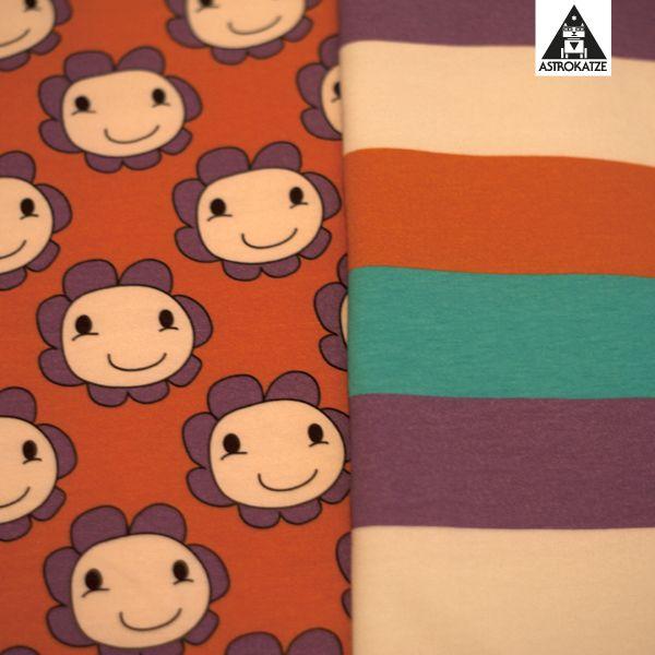 Kuschelfreunde-Kollektion von #astrokatze #stoffkollektion #stoffdesign #textildesign #pattern #kuschelfreunde #kuschelfreundekollektion #bettybloom #blume #bloom #blumenstoff #stoff #fabric #sewing #diy #blockstreifen #blockstripes