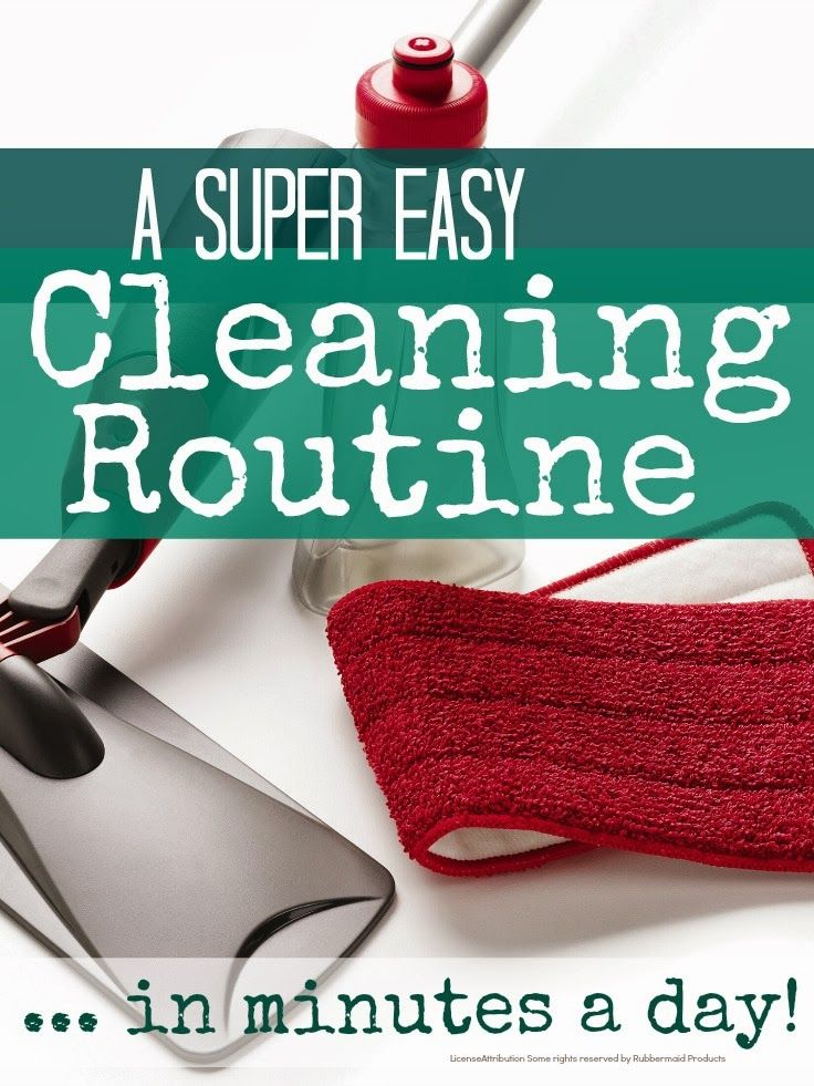 A simple daily cleaning routine to keep the house in order in minutes a day @Mums make lists ... #housework