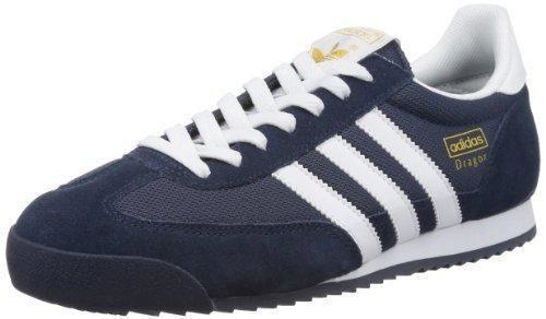 Oferta: 90€ Dto: -23%. Comprar Ofertas de adidas Dragon Zapatillas, Hombre, Azul (New Navy/White/Metallic Gold), 42 2/3 barato. ¡Mira las ofertas!