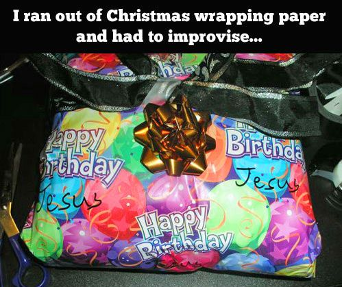 What to do when you run out of Christmas wrapping paper…