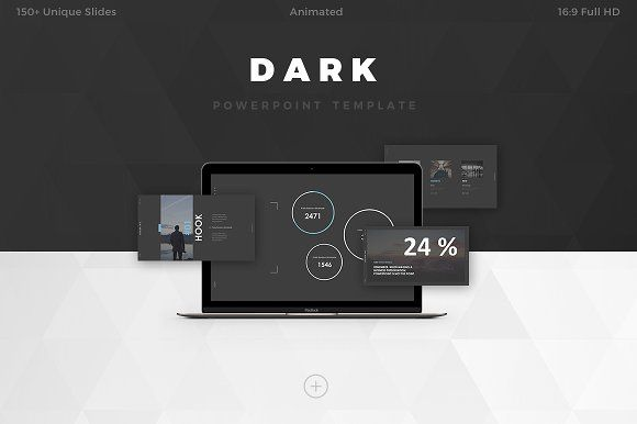 DARK Powerpoint Template by Haluze Design on @creativemarket