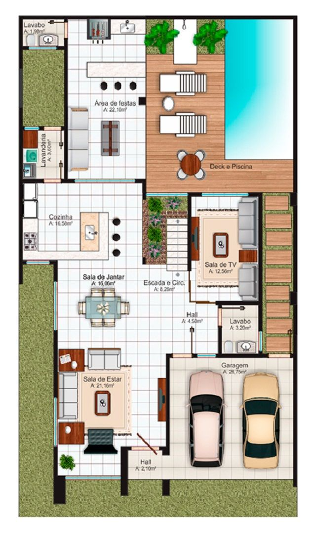 17 best images about casas con piscinas on pinterest for Plano piscina