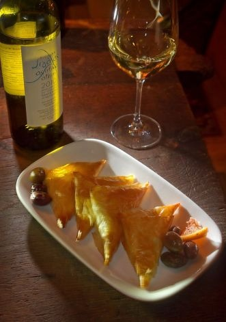 The Feta Cheese Filo Pies at #Kokkari Restaurant in #SanFrancisco Ca Photo: John Storey