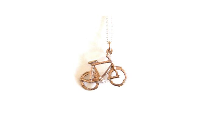 Gilt Bicycle Pendant by SMITH Jewellery
