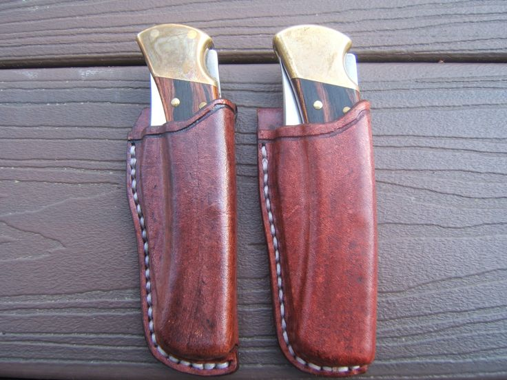 Buck 110 Wet Molded Pouch Sheaths Leather Pinterest