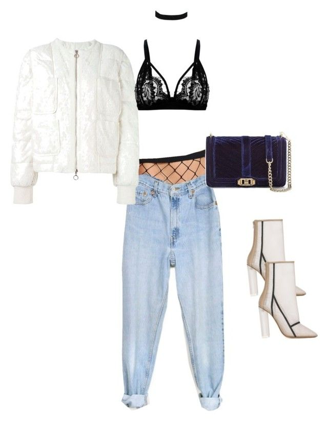 """""""Puffer Jacket Ready !"""" by luluuheree on Polyvore featuring Levi's, Moncler, ASOS, Rebecca Minkoff and adidas Originals"""