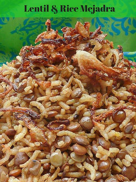 Mejadra spiced rice & lentils w crispy onion topping * Get the recipe at TIFFIN - bite sized food adventures -
