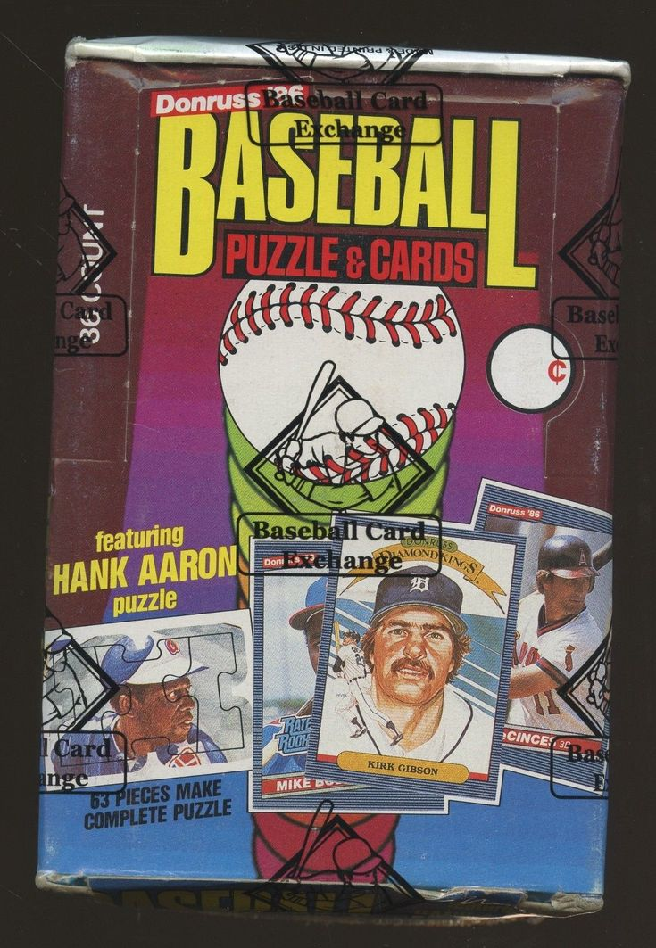 1986 donruss baseball unopened wax pack box bbce sealed