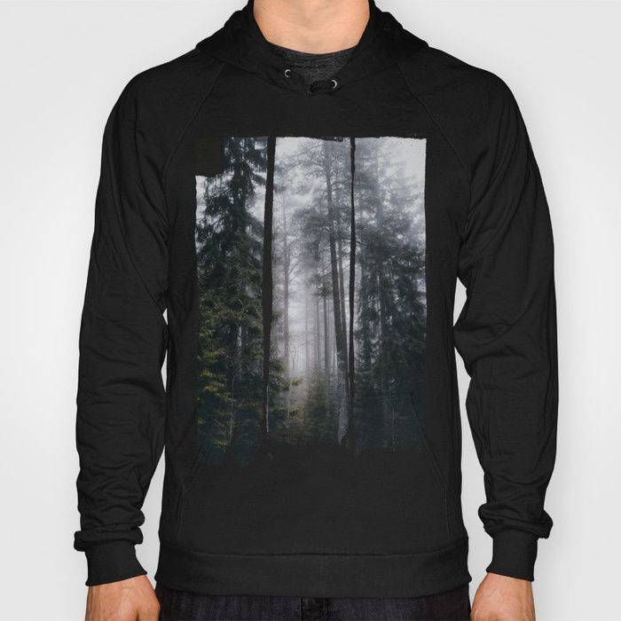 Into the forest we go Hoody by HappyMelvin. #nature #forest #wanderlust #mystic #fog #hoodie #streetwear