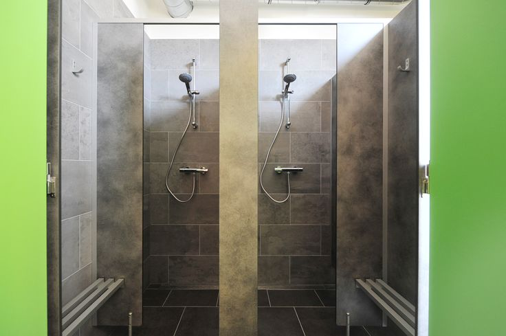 Communal showers.