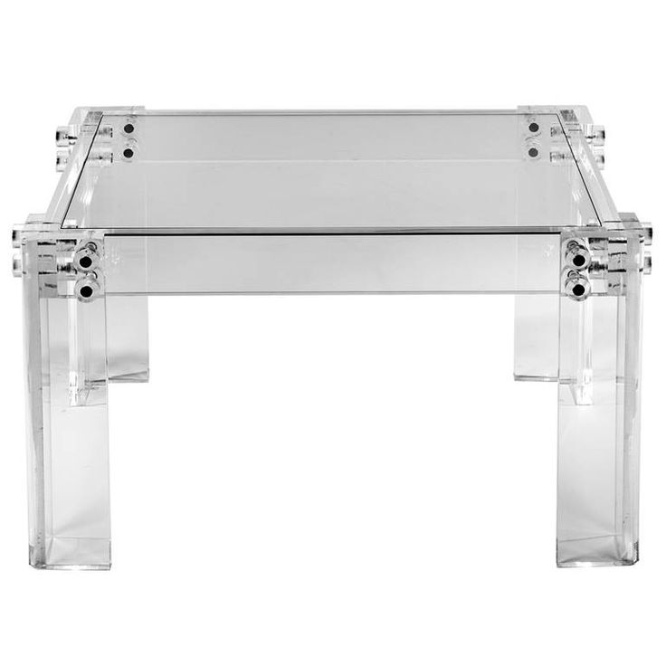 bolted 1970s lucite end or side table - Lucite Desk