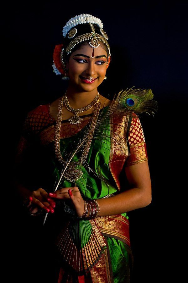 A beautiful Bharatanatyam dancer