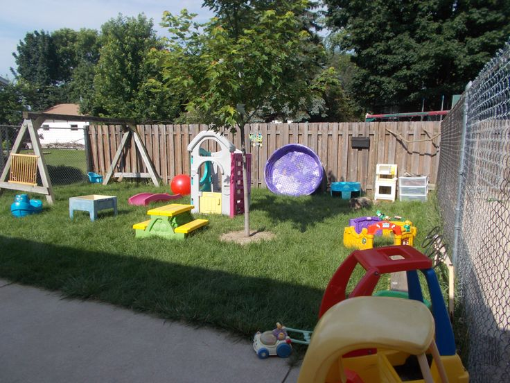The Toddler Playground Is Set Up With Many Centers To
