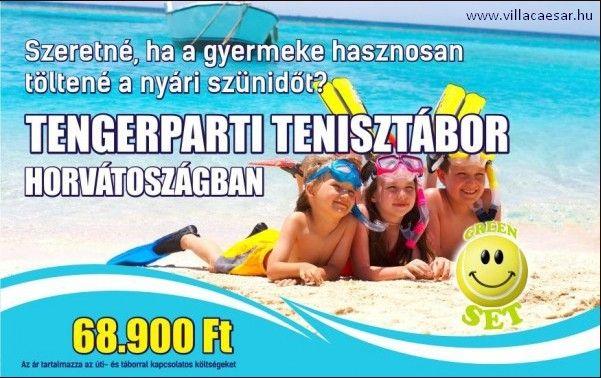 Június-ban két időpontban kerül megrendezésre Vir szigeten a #tenisz #tábor, mely egy élményekkel teli és ANGOL nyelvoktatást is magába foglaló nyári program gyerekeknek