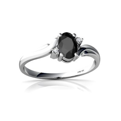 Genuine Black Onyx Ring In White Gold Simple Jewelry Pinterest Rings And