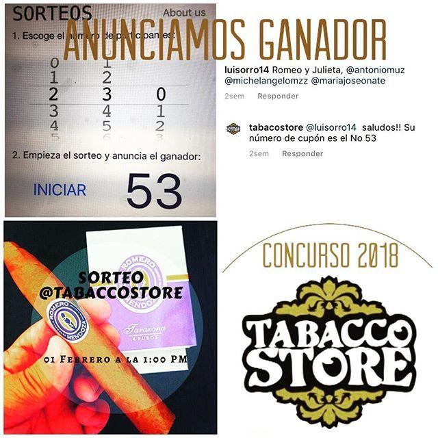 El ganador del Concurso fue el participante con el Número de Cupón 53 @luisorro14. Contáctanos por el privado para que reclames tu premio. Gracias a todos los seguidores que participaron en el #sorteo. Buenos humos para todos  #concursotabacostore #cigar #cigaraficionado #tabacovenezolano  #tabacoenvenezuela #tabacostore #cigarinfluencer  #cigarshop #luxurylife #cigarlife #cigars #olorvenezolano #instacigar #cigarsoninstagram