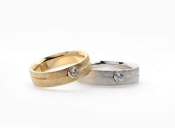 Bandas de boda juego. Vendas de boda de oro. por JewelryEscorial