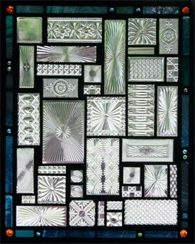 Daniel Maher Stained Glass This Window Is Installed On The Front Door Of A  House In Brookline, MA. The Window Is Composed Of Square And Rectangular  Found ...