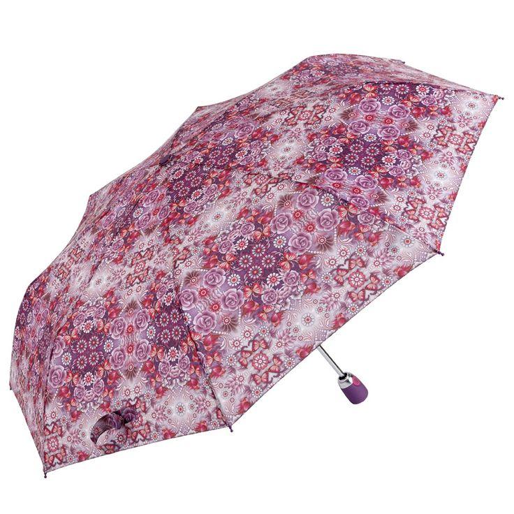 Catalina Estrada Secret Garden Umbrella with warm purple tones. Let's have some rain to show it off!
