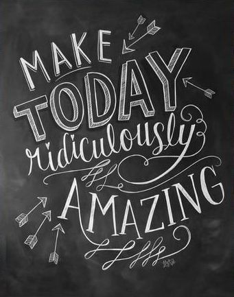 Make Today Amazing Chalkboard Art Print