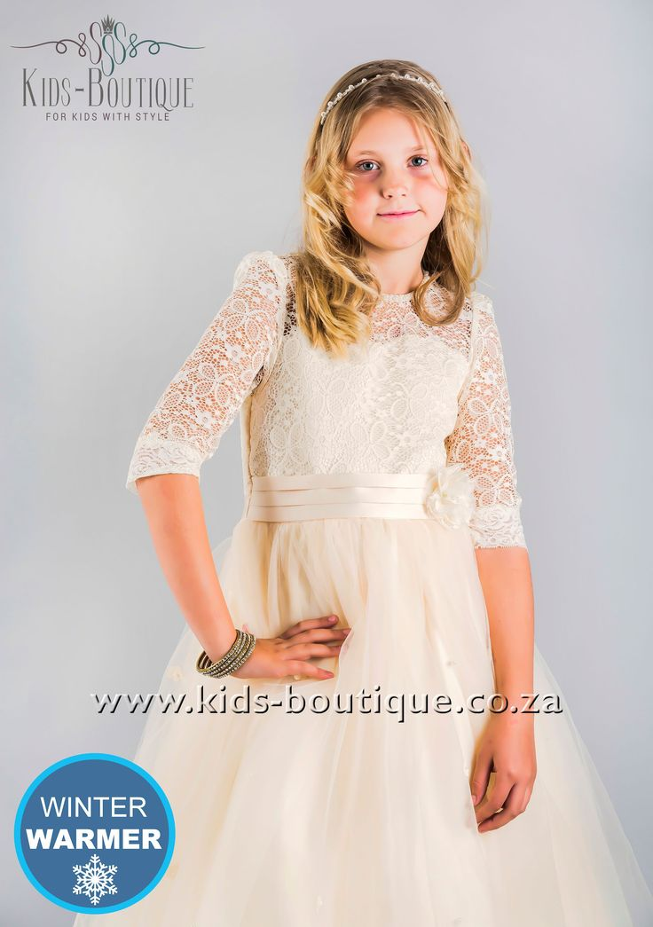 Cream Lace Top Dress With Soft Tulle