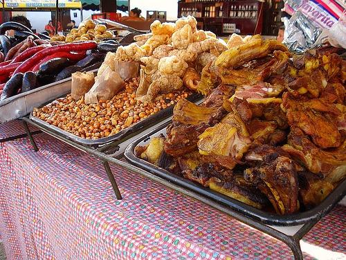 Fritanga callejera... Colombian street food