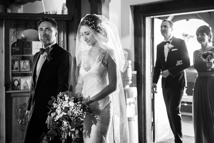 She looks like an angel in this beautiful wedding dress.
