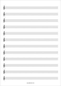 Free Blank Sheet Music | flutetunes.com Free flute sheet music!!