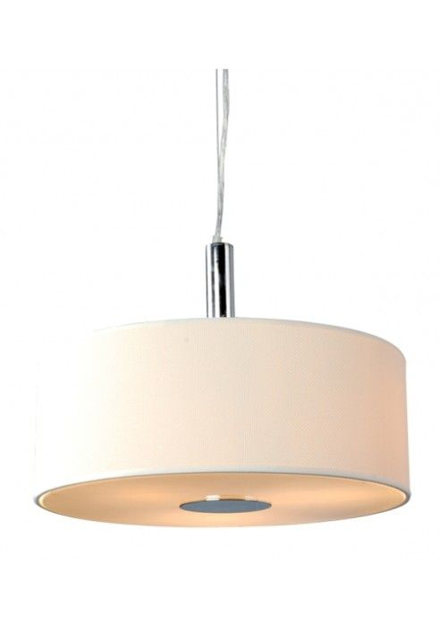 Lámpara colgante de techo pound blanco E-27 con embellecedor cromo por sólo 49,95 €. #iluminacion