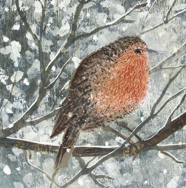 'Our Robin' By Painter Hannah Hann. Blank Art Cards By Green Pebble. www.greenpebble.co.uk