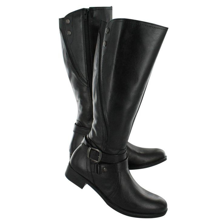 SoftMoc Botte d'équitation en cuir noir ANDES, femmes ANDES-BLK