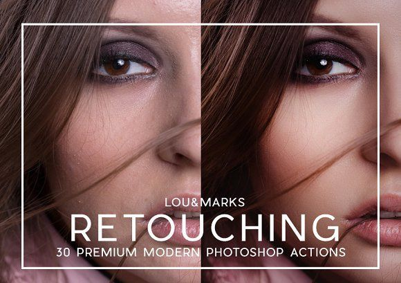 30 Pro Portrait Retouching Actions by LOU&MARKS on @creativemarket