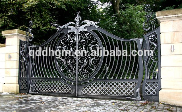 Look what I found Via Alibaba.com App: - Factory Wholesale Used Beautiful House Main Wrought Iron Gate/Steel Driveway Gate Grill/Garden Gate Designs