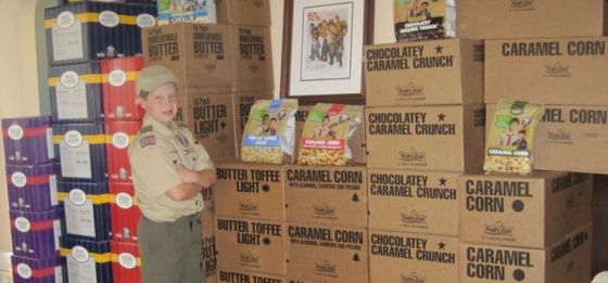 Boy Scout Marketing Prodigy with Tips on Popcorn Sales.