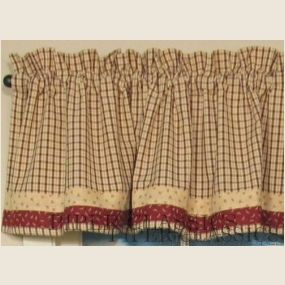 Valance Measures 72 X 14 100 Hand Loomed Cotton Unlined Primitive CountryPrimitive