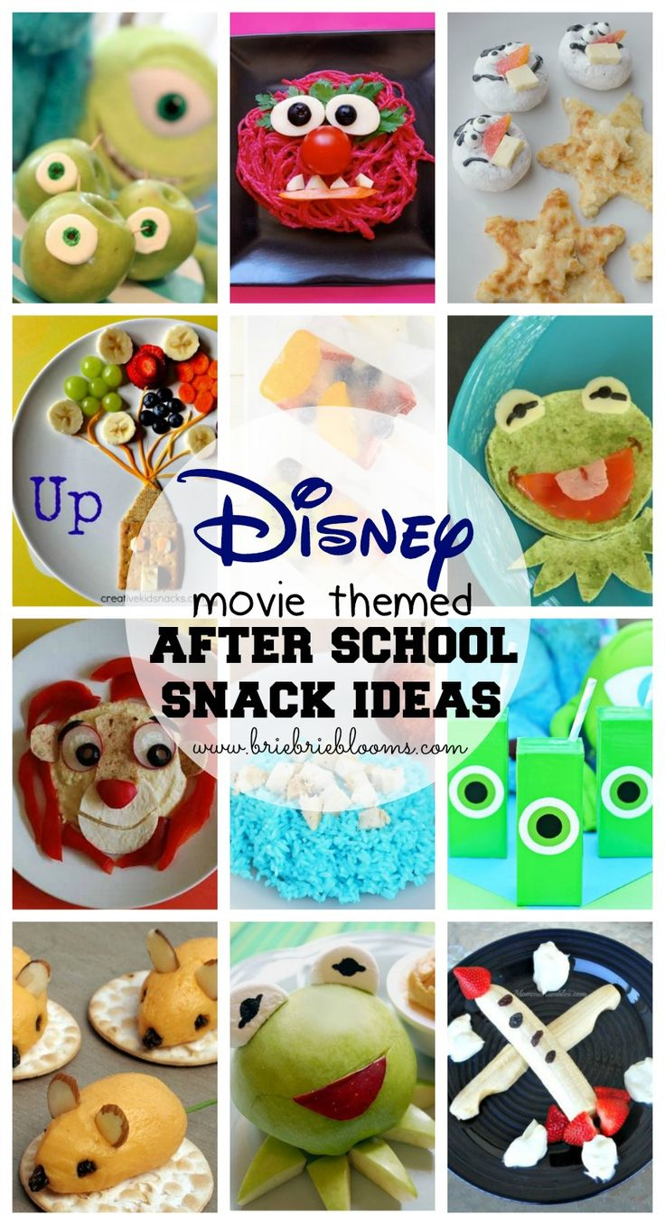 Disney movie themed after school snack ideas -SO fun!!!!