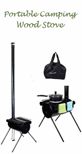 Portable Wood Stove.  For camping,  hunting, ice fishing, or cabin. Cook Wood Stove Tent Heater w/ Bag. affiliate link