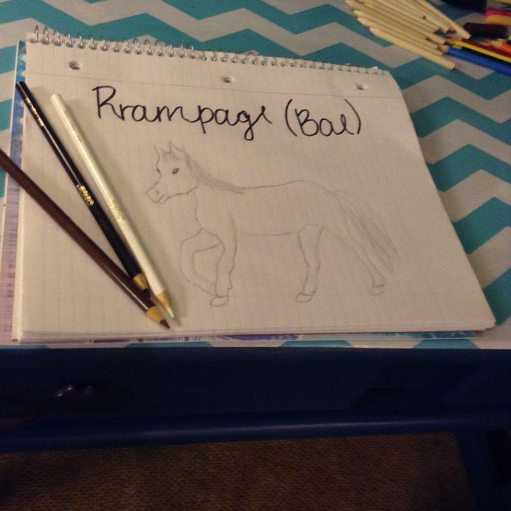 I drew my horse!!