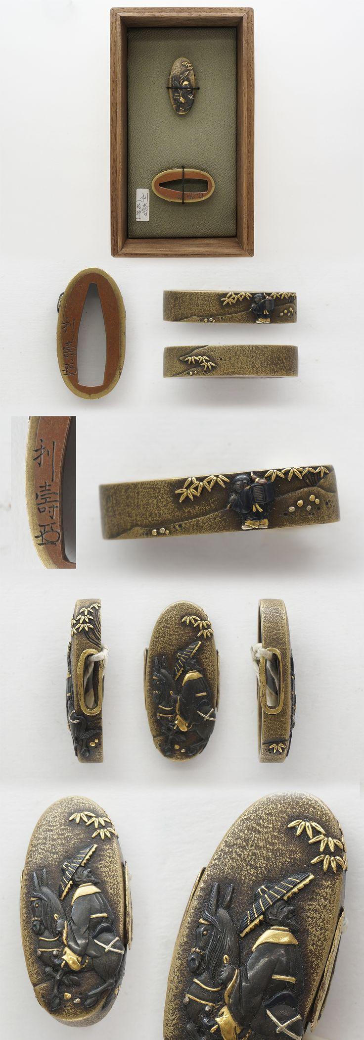 Fuchi Kashira: Toshihisa (Kao) | Japanese Sword Shop Aoi-Art.