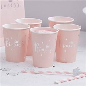 🎉 JUST ADDED - Itty Bitty Party Princess Perfection Silver Foiled Paper Cups 🎈  VIEW HERE: