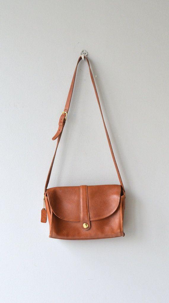 Original Coach saddle bag 1970s Coach leather bag by DearGolden