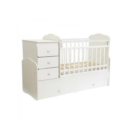 Фея Кровать детская  — 11400р. --------------------------------- Кроватка Фея – это настоящий трансформер 3-в-1.Детская кроватка со столиком для пеленания и комодом;Отдельно стоящий комод;Полноценная кроватка для младшего дошкольного и школьного возраста.Эта кроватка прослужит вам много лет, плавно меняясь под нужды вашего ребенка. Боковинки кровати крепкие и не слишком частые, что позволит малышу чувствовать себя комфортней во время сна и игры, по высоте они расположены так, чтобы кроха…