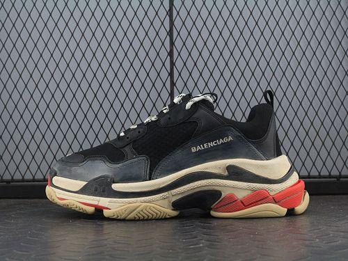 0aa3e1bf5be2 Balenciaga 17FW Winter Balenciaga Triple-S Sneaker Fashion Retro  Thick-soled Old Grandfather Shoes Black Old 656686W06G011001-10341120  Whatsapp 86 ...