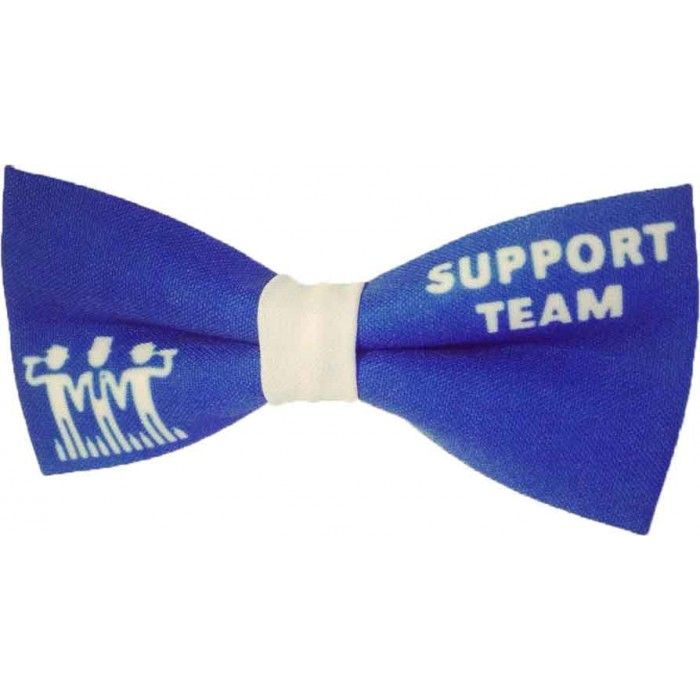 Papion albastru personalizat cavaler de onoare Support Team
