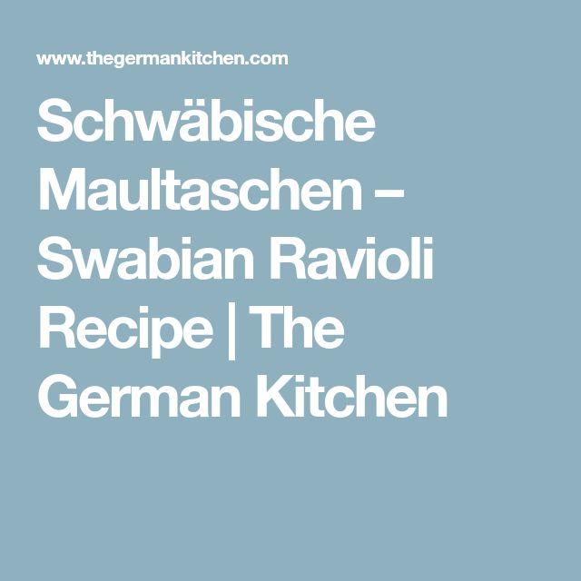 Schwäbische Maultaschen – Swabian Ravioli Recipe | The German Kitchen
