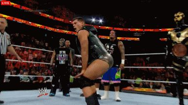 Cody Rhodes twerking at Survivor Series 2013 (Watch Goldust's reaction) [Gif]