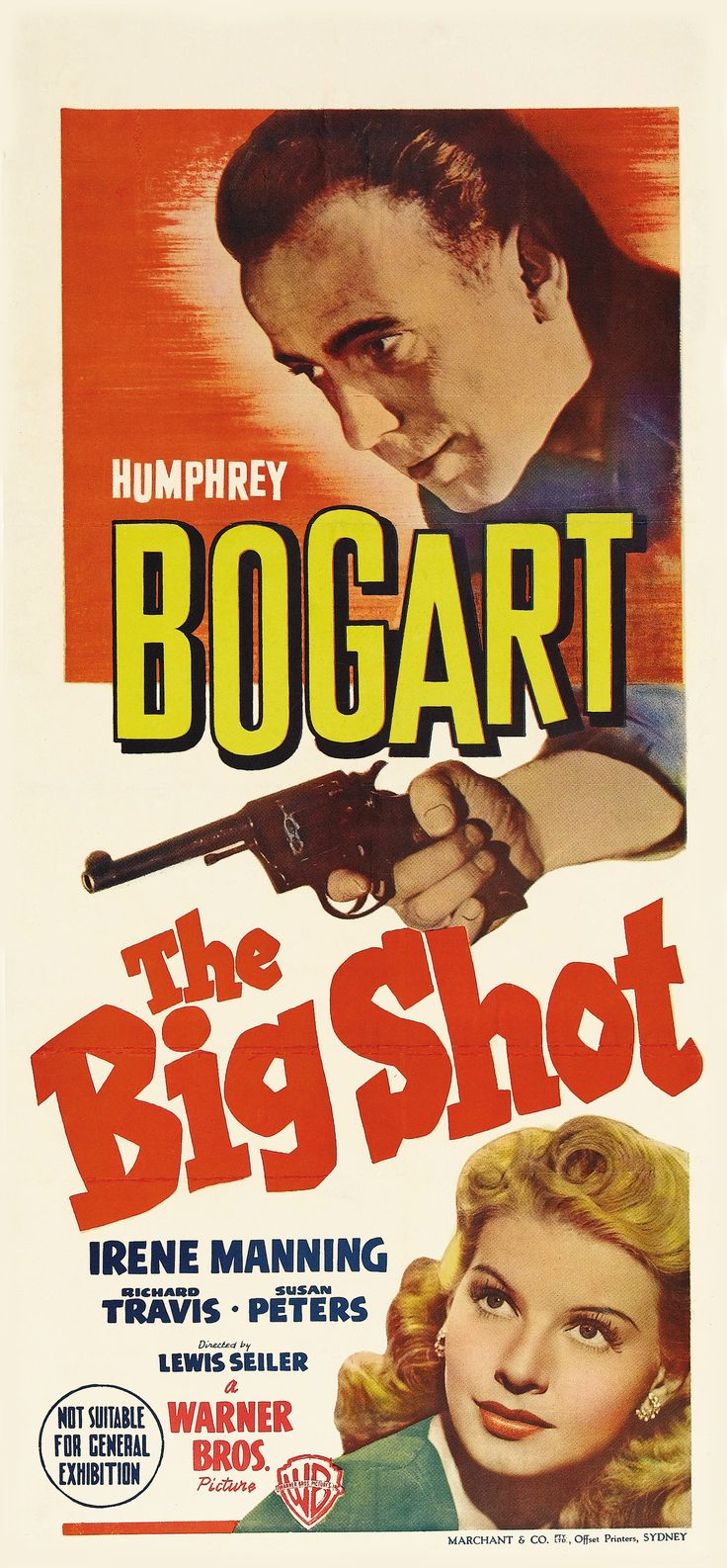 The Big Shot (1942) Starring Humphrey Bogart, Irene Manning, Richard Travis and Susan Peters Movie Poster https://www.youtube.com/user/PopcornCinemaShow