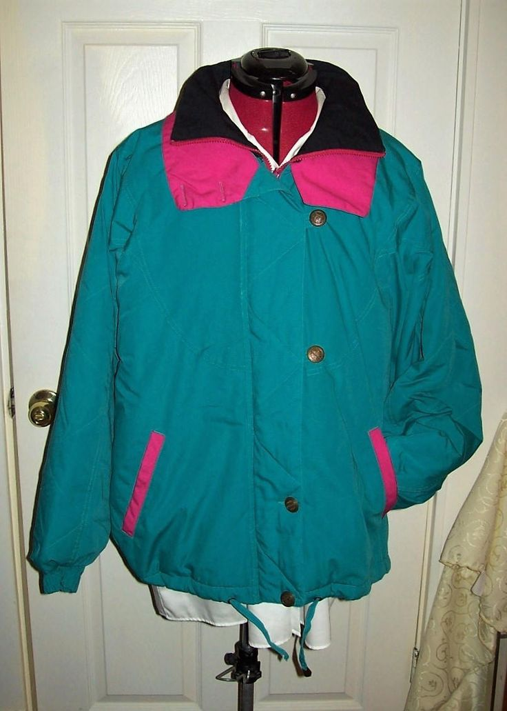 Vintage Ladies Green Parka Coat by Clipper Mist XL Only 18 USD by SusOriginals on Etsy
