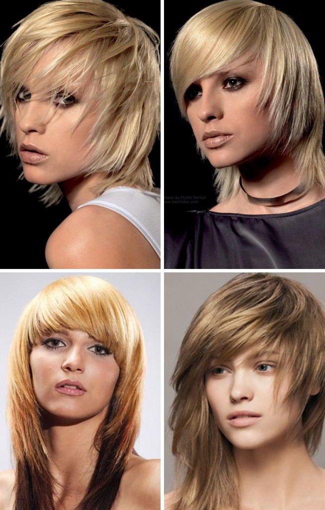Modnye Pricheski S Chelkoj Na Srednie Volosy 2019 Foto Hair Styles Hair Without Bangs Long Hair With Bangs